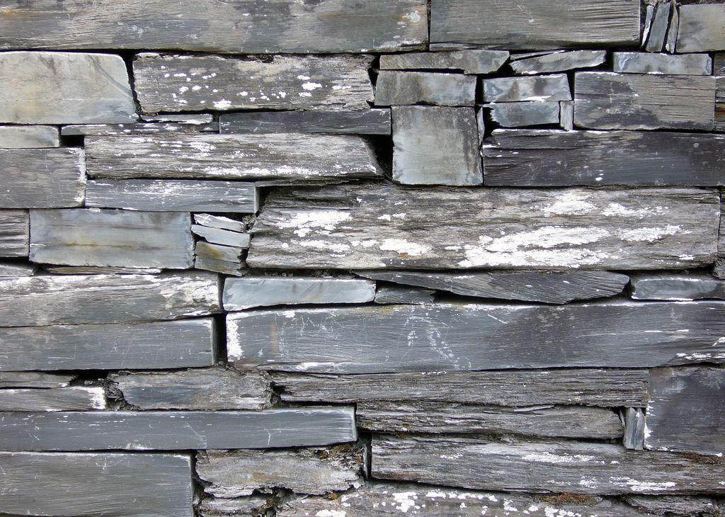 Welsh slate wall