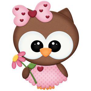 Girl Owl With Flower Coruja Desenho Corujas Fofas Trabalhos