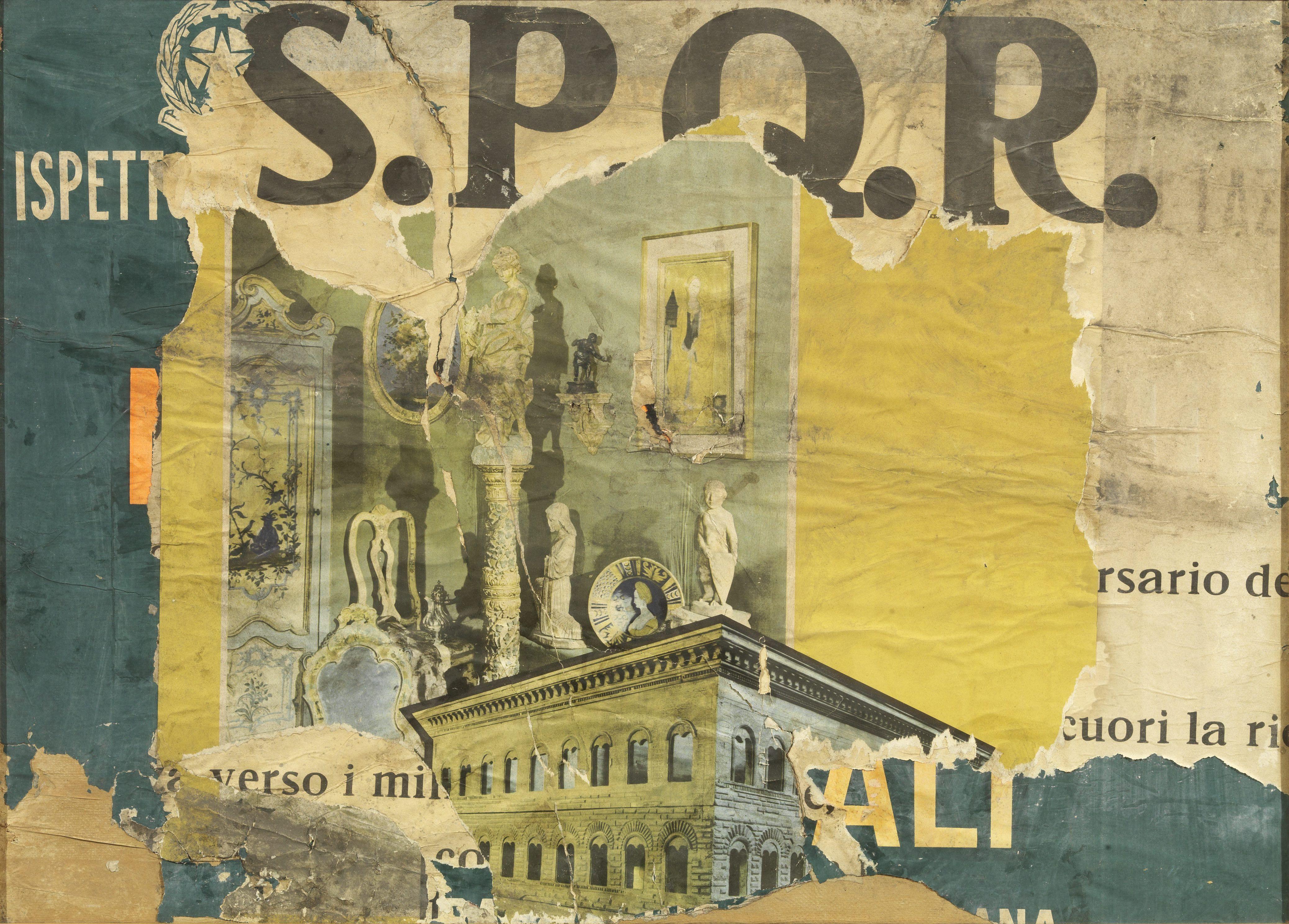 Mimmo Rotella, S.P.Q.R., 1963 Tornabuoni Art - La Dolce Vita  Courtesy Tornabuoni Art