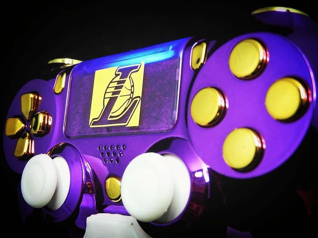 Custom Playstation 4 Controller Gamepad La Lakers