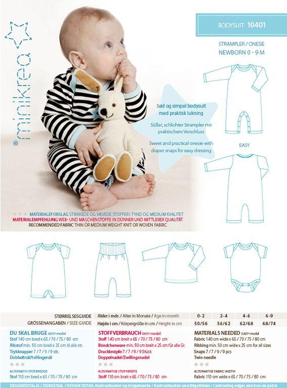 Bodysuit 11411 PDF Sewing Pattern from MiniKrea