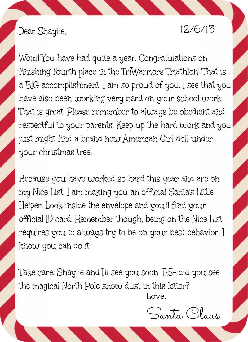 Personalized Letters From Santa  Letter    Santa Mail
