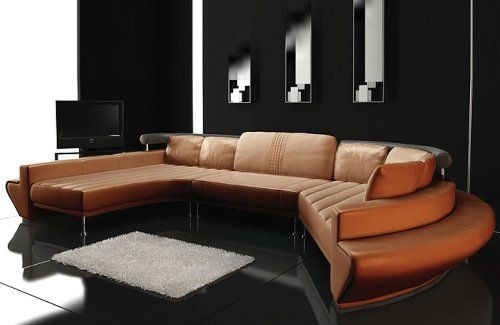 La Star Modern Leather Sectional Sofa Set Tosh Furniture Http Www