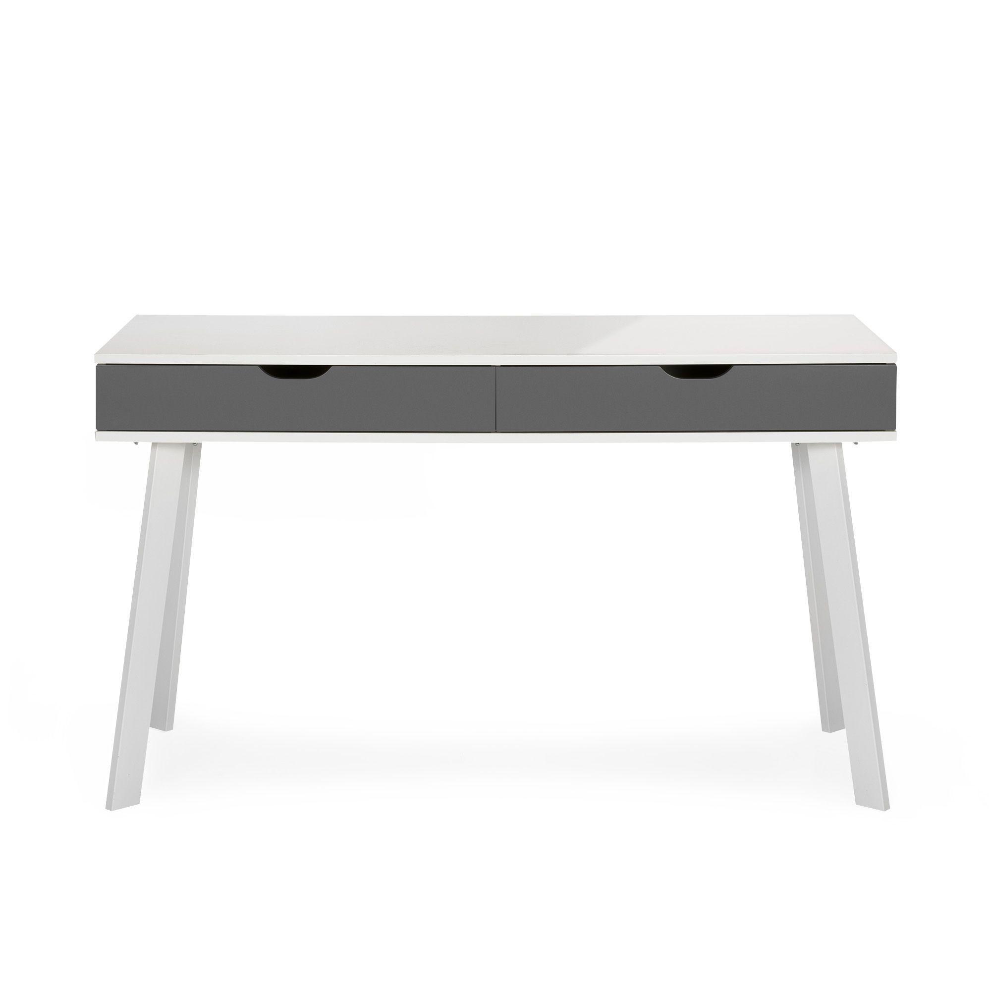 bureau style scandinave tiroirs gris taupe aquila les bureaux adultes les bureaux