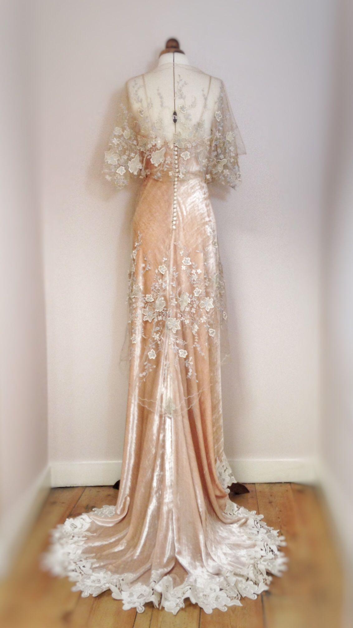 Joanne fleming design embellished tulle and silk velvet edwardian
