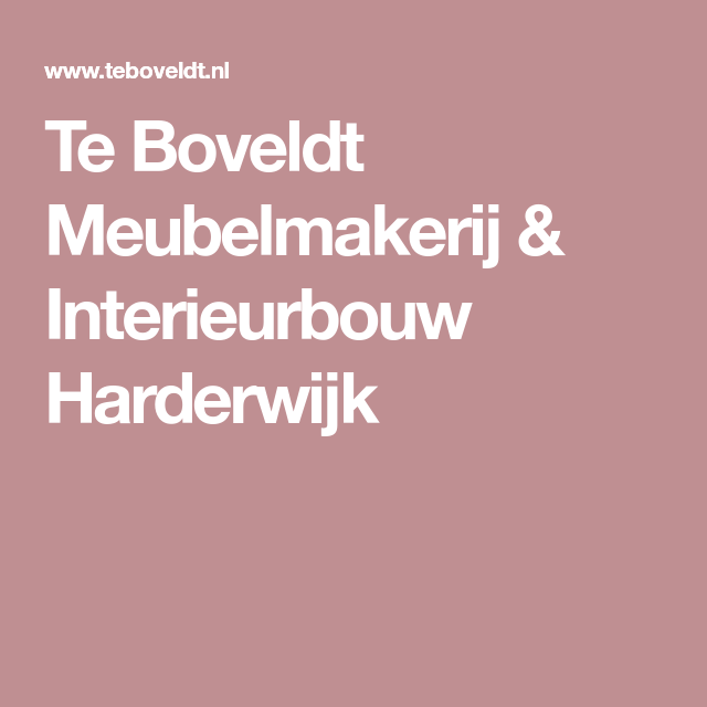 Te Boveldt Meubelmakerij Interieurbouw Harderwijk Dressoir Keukens Kast