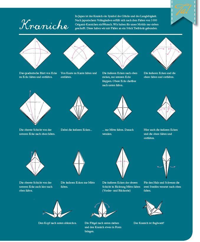 diy origami mobile vom eigenwerk magazin origami kranich kranich und origami. Black Bedroom Furniture Sets. Home Design Ideas