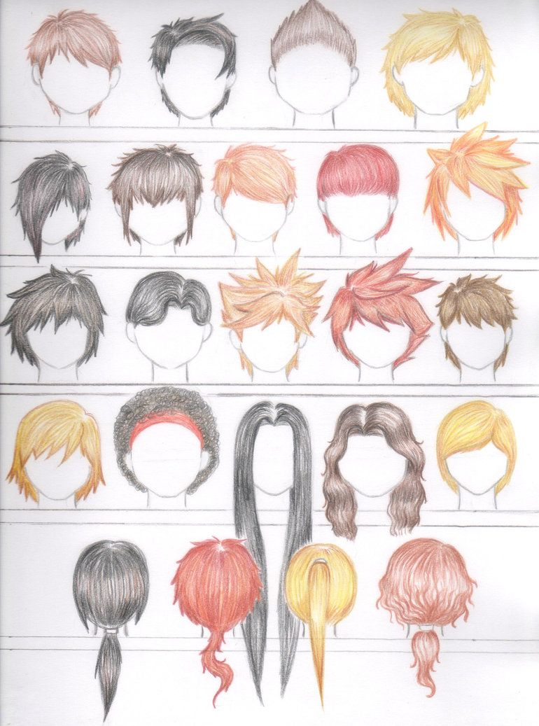 Natural Hair Color Hairstyles Male Version By Errisirre On Deviantart Natural Hair Color How To Draw Hair Natural Hair Styles