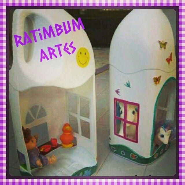 Ratimbumartes.blogspot.com.br #reciclagem #recycling #dollshome #casadebonecas