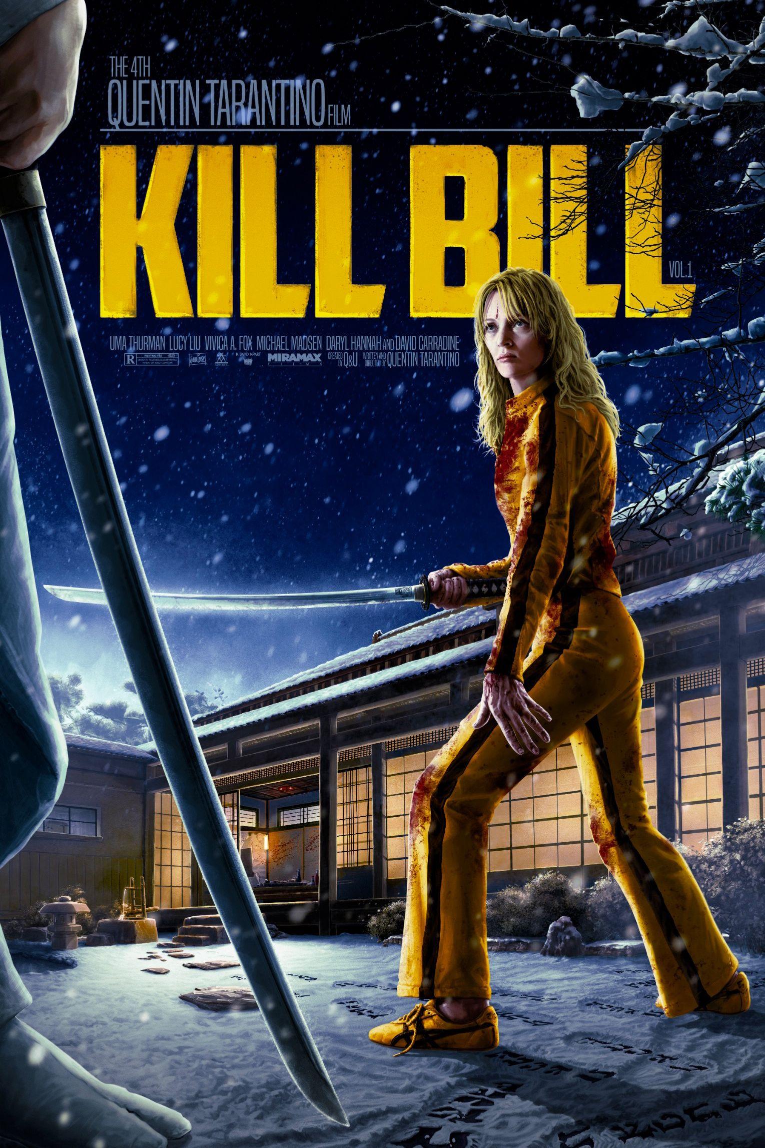 Kill Bill V1 Reg Blue Footprints Alternative Movie Poster Saniose In 2021 Kill Bill Best Movie Posters Classic Movie Posters