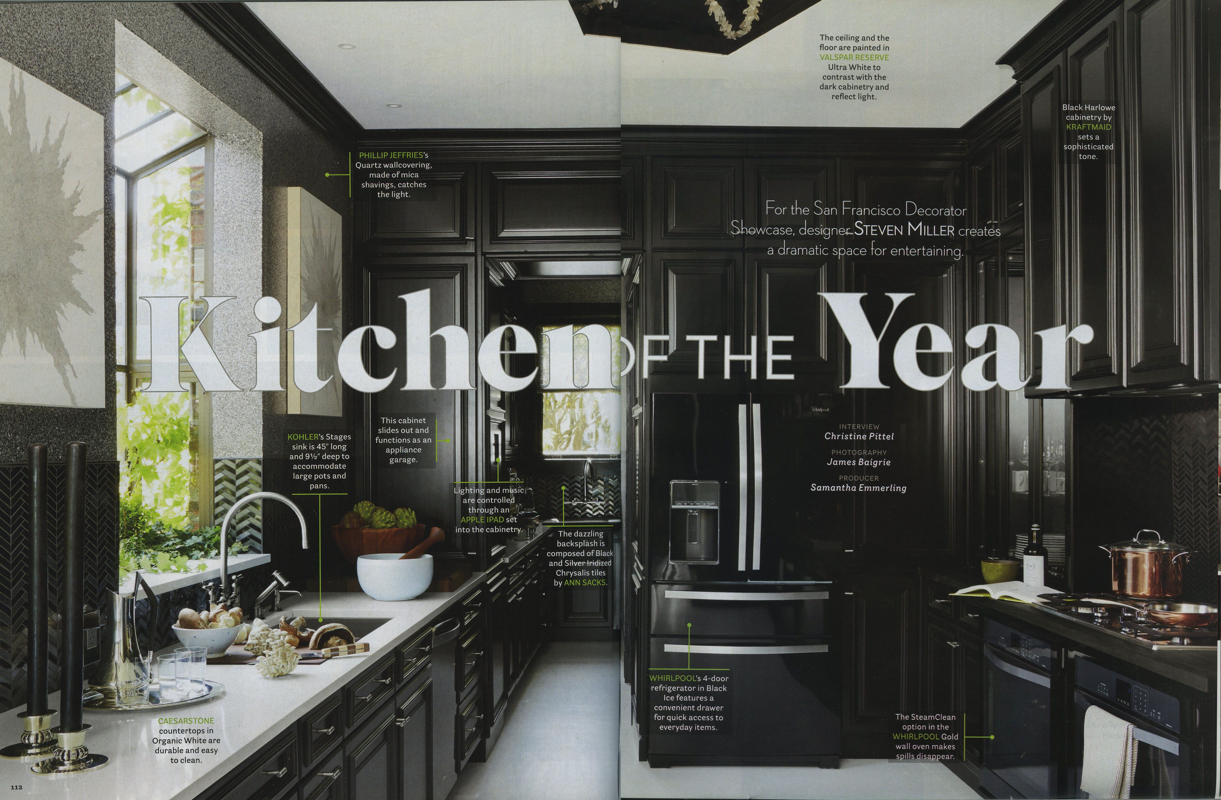 Best House Beautiful Kitchen Of The Year Black Cabinets White 400 x 300