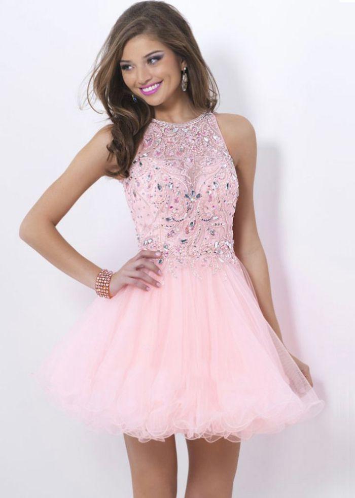 La robe rose poudr e en 60 images originales pinterest bal de promo robes roses et roses - Robe de promo ...