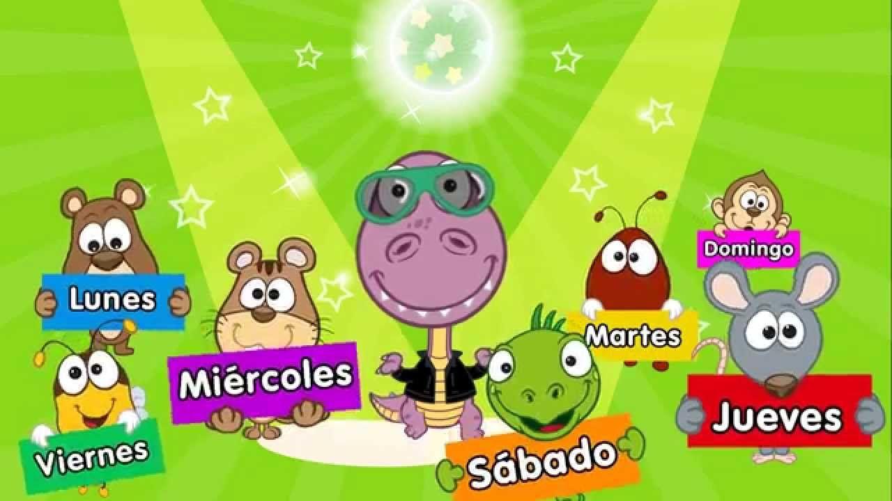 Los Dias De La Semana Canción Para Niños Canciones Infantiles Dias De La Semana Canciones