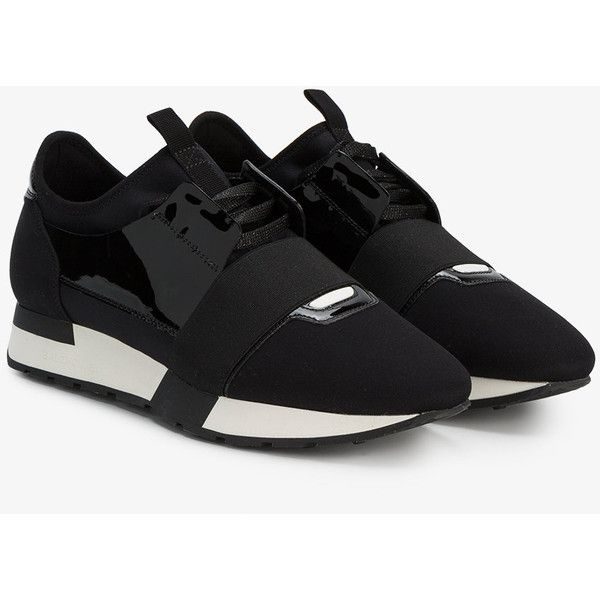 5e35198aa80 Balenciaga Race Runner Sneakers ( 775) ❤ liked on Polyvore featuring shoes
