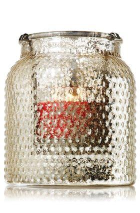 Bubble Glass Hurricane 3-Wick Candle Luminary - Slatkin & Co. - Bath & Body Works