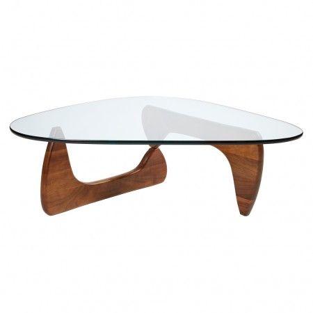 Table Basse Noguchi Noyer Verre Vitra Table Basse Noguchi