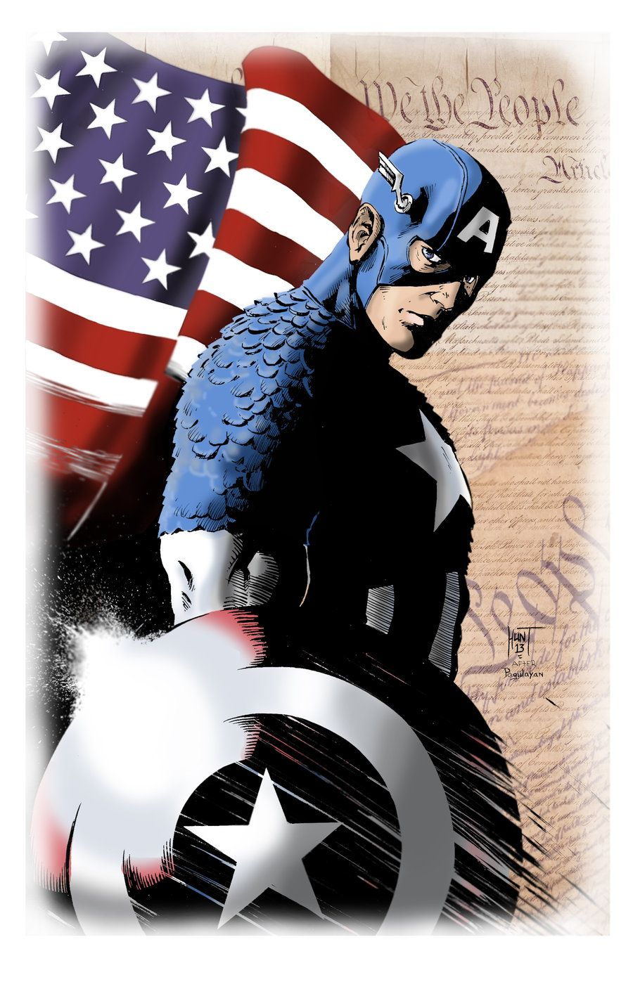 captain america colors by ken hunt o captain my captain