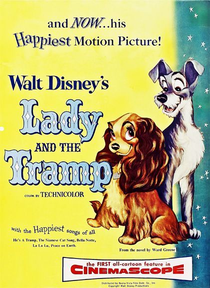 Lady And The Tramp 1955 Barbara Luddy Larry Roberts Peggy Lee Movieladyandthetramp1955 ヴィンテージディズニー わんわん物語 ポスター