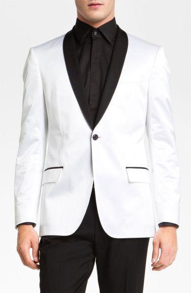 4a2cd6549 Boss Black Hyatt Shawl Collar Dinner Jacket in White for Men - Lyst ...