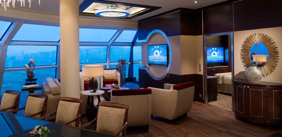 Reflection Suite On Celebrity Cruises A Two Bedroom Sanctuary At Sea In An Exclusive Area Of