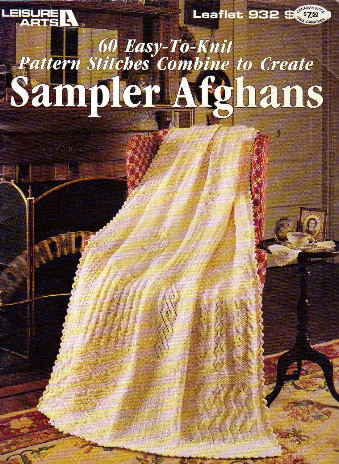 Afganhs, 60 Easy To Knit Pattern Stitches to Create Sampler Afghans ...