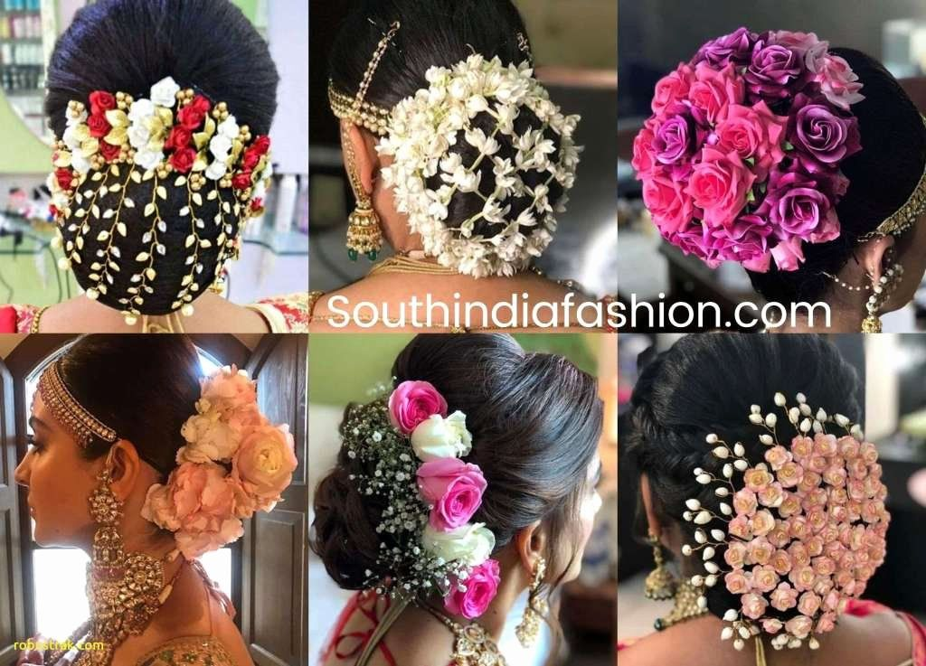 Wedding Hair With Headbands Inspirational Awesome Indian Bridal Hair Decoration With Fresh Flower Indian Bun Hairstyles Wedding Bun Hairstyles Bridal Hair Buns
