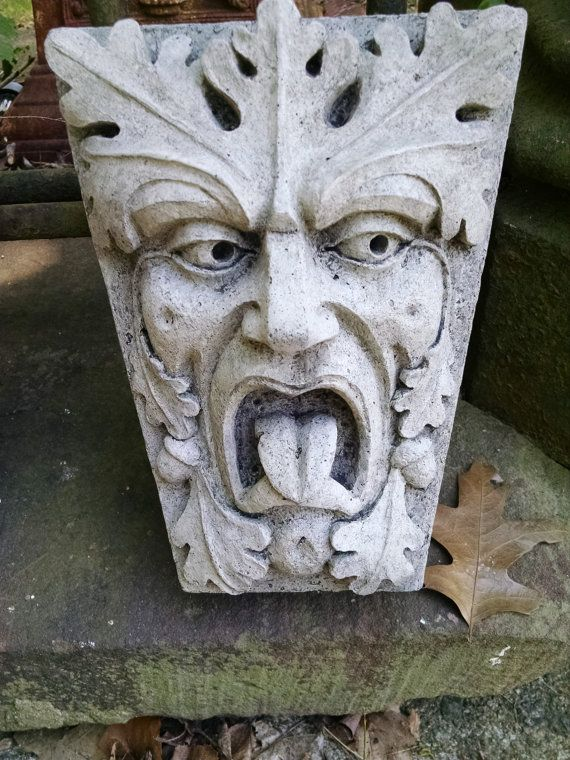 Merveilleux Green Man, Mouth Of Truth, Keystone Leaf Face, Greenman, Garden Art,  Renaissance Element, Medieval Sculpture, Gothic New York, Chalifour