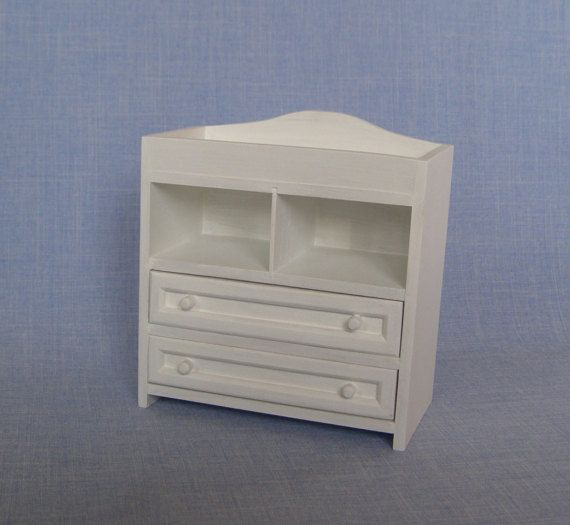 Changing table for doll / Miniature dresser 1:6 scale / Baby room ...