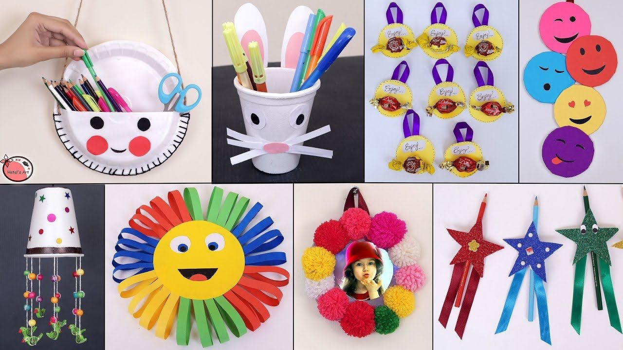 11 Easy Usefull Diy Craft Ideas For Kids Best Out Of Waste Ideas Gyerekek