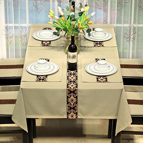 Wfljl Tablecloth Rural Style Dining Table Linen Living Room Beauteous Dining Room Tablecloths Design Inspiration