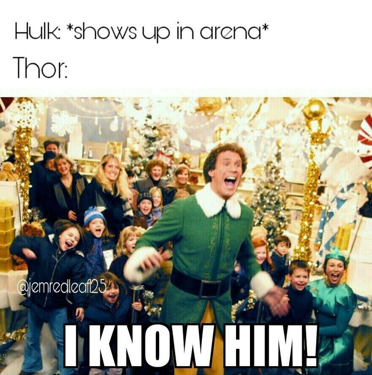 accurate hulk   shows up in arena thor  i know him