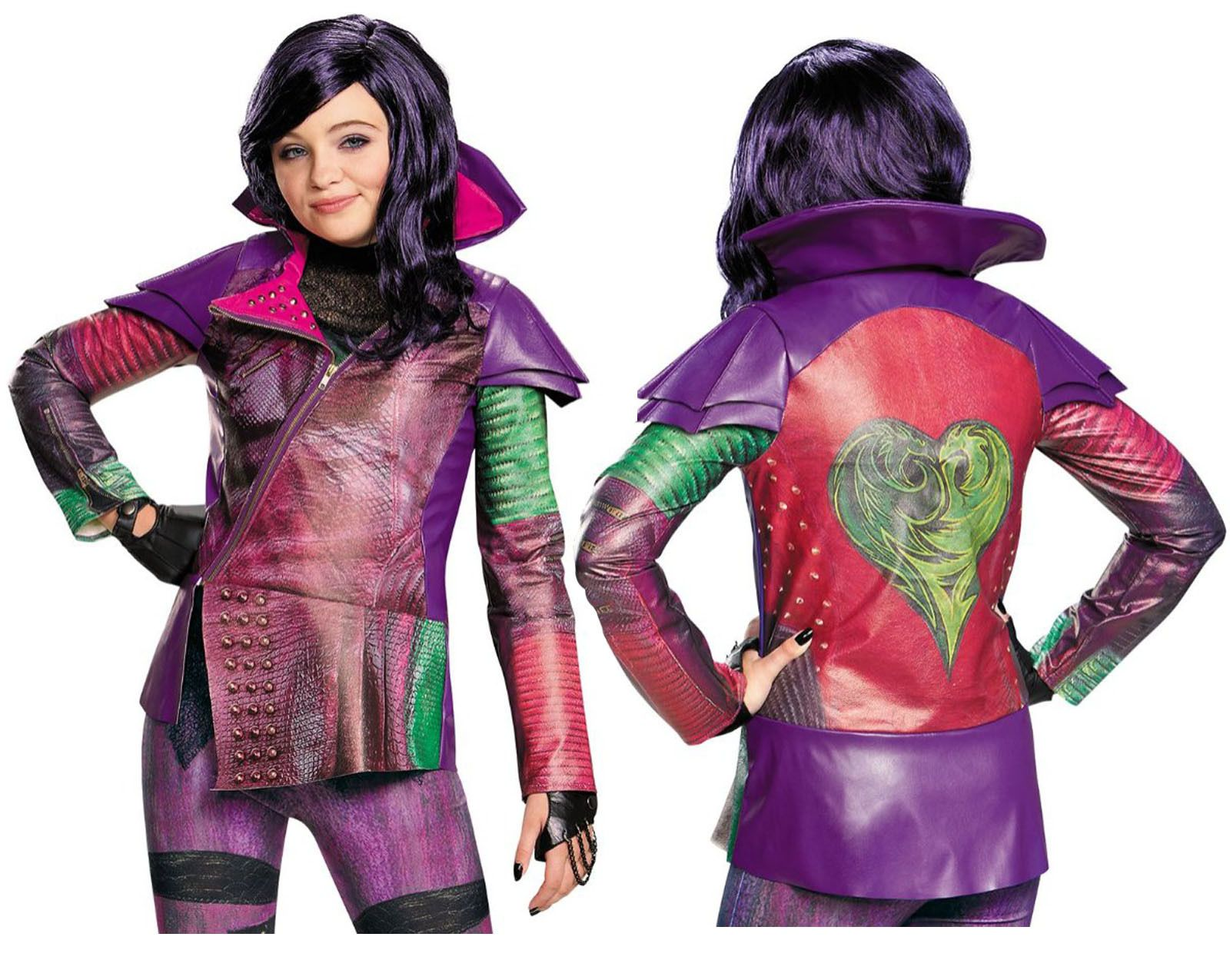 Details about NWT Disney Descendants MAL Halloween Costume JACKET ...