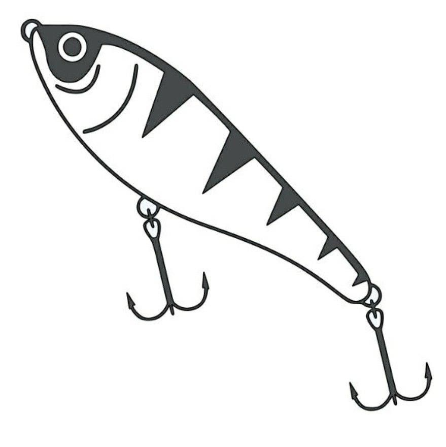 Fishing Lure Bait Car Truck Window Decor Vinyl Decal Sticker