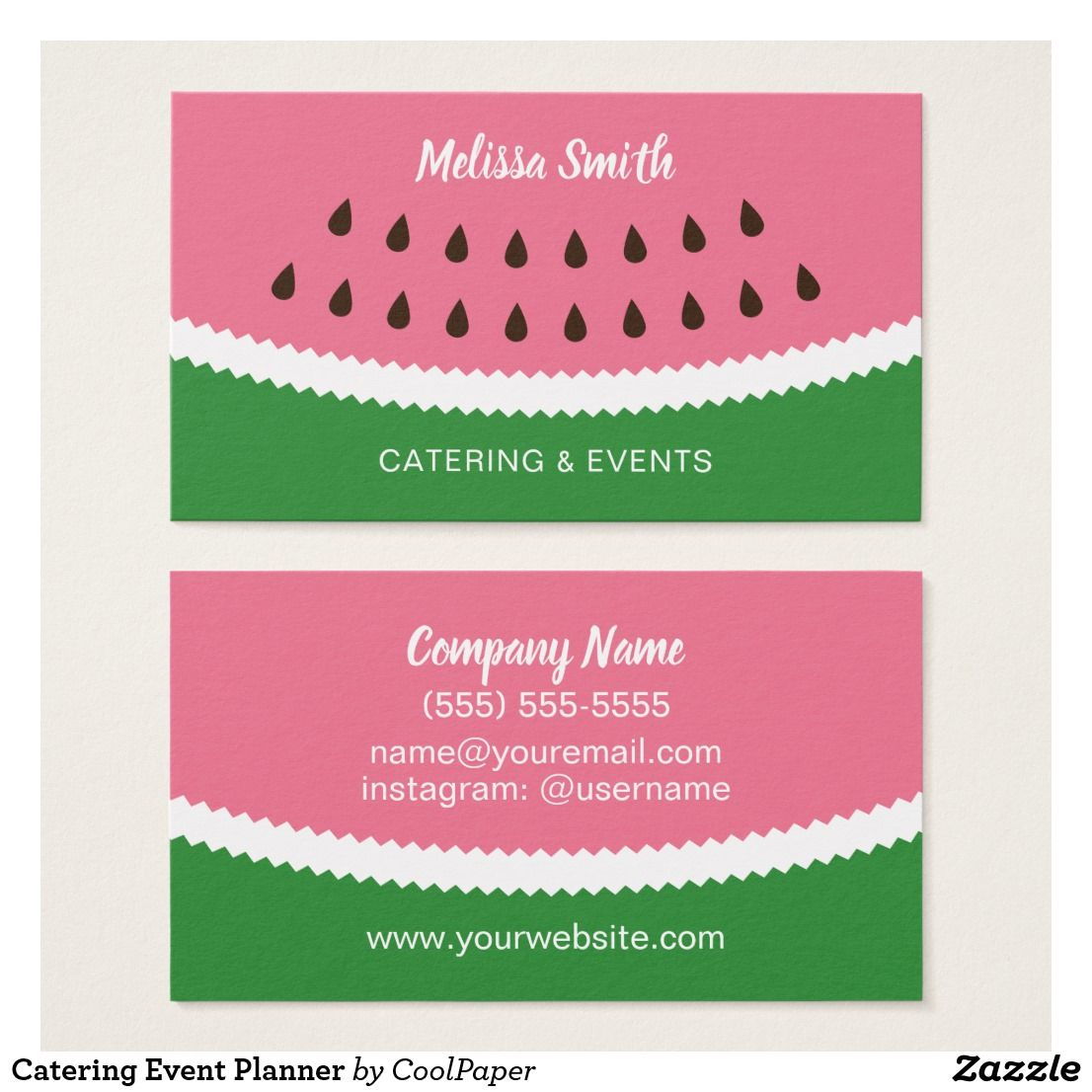 Catering Event Planner Business Card Zazzle Com Event Planner Business Card Event Planning Business Event Planning Business Cards