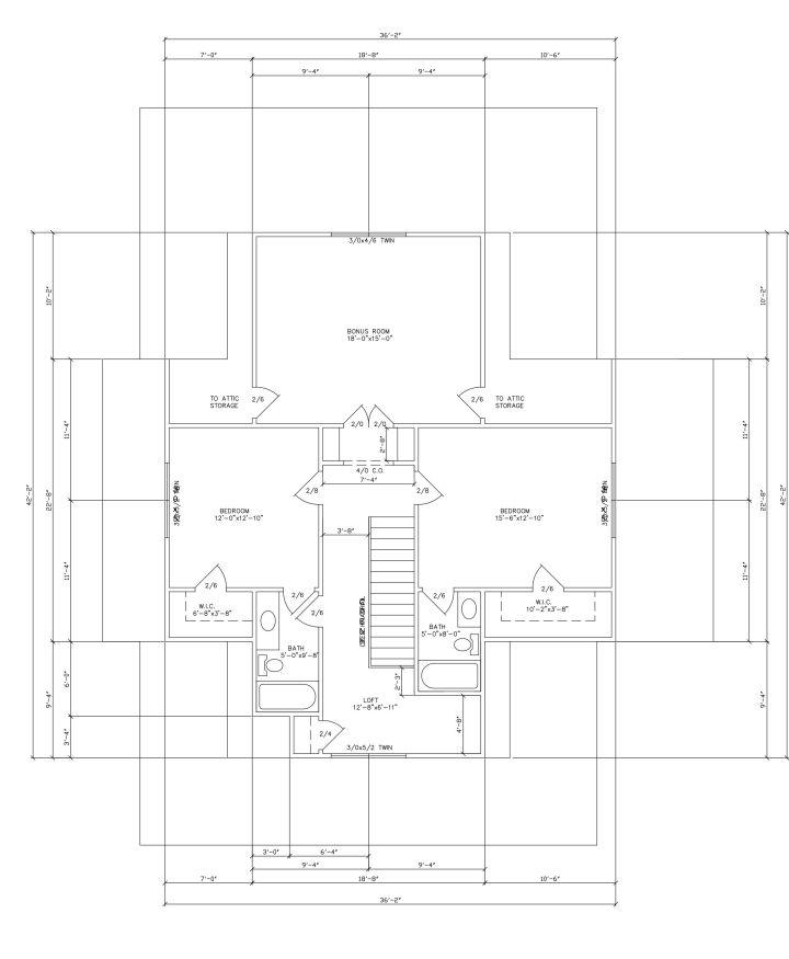 Four Gables Plan Altered Farmhouse Floor Plans Gable House Southern House Plans