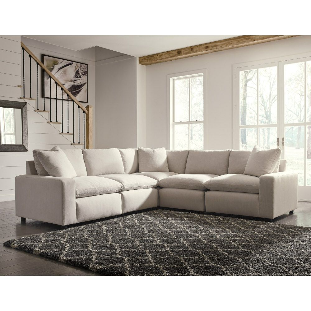 Zen 5 Piece Sectional Ivory In 2020 Sectional Modular Sectional Most Comfortable Couch