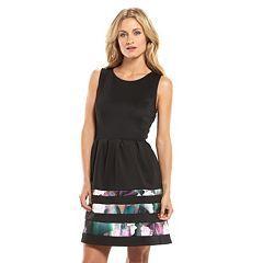 Apt. 9® Striped Fit & Flare Scuba Dress - Women\'s | Wardrobe ...
