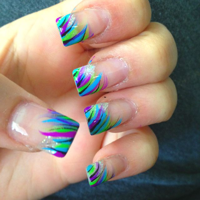 27 Funky Nail Art Designs Ideas: Purple Nails, Green Nail Designs