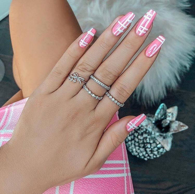Come Visit Us Often We Post Fresh And Surprising Nail Designs Every Single Day In 2020 Pink Acrylic Nails Coffin Nails Designs Pink Acrylic Nail Designs