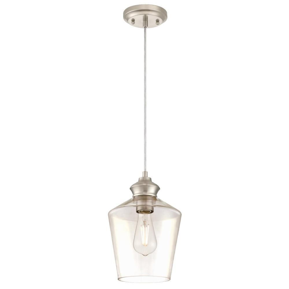over kitchen sink westinghouse light brushed nickel mini