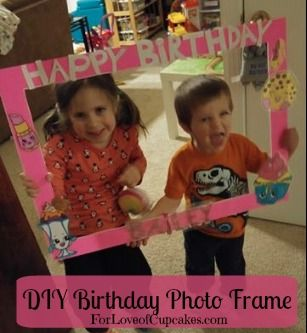 DIY Birthday Party Photo Frame Found all the supplies from the