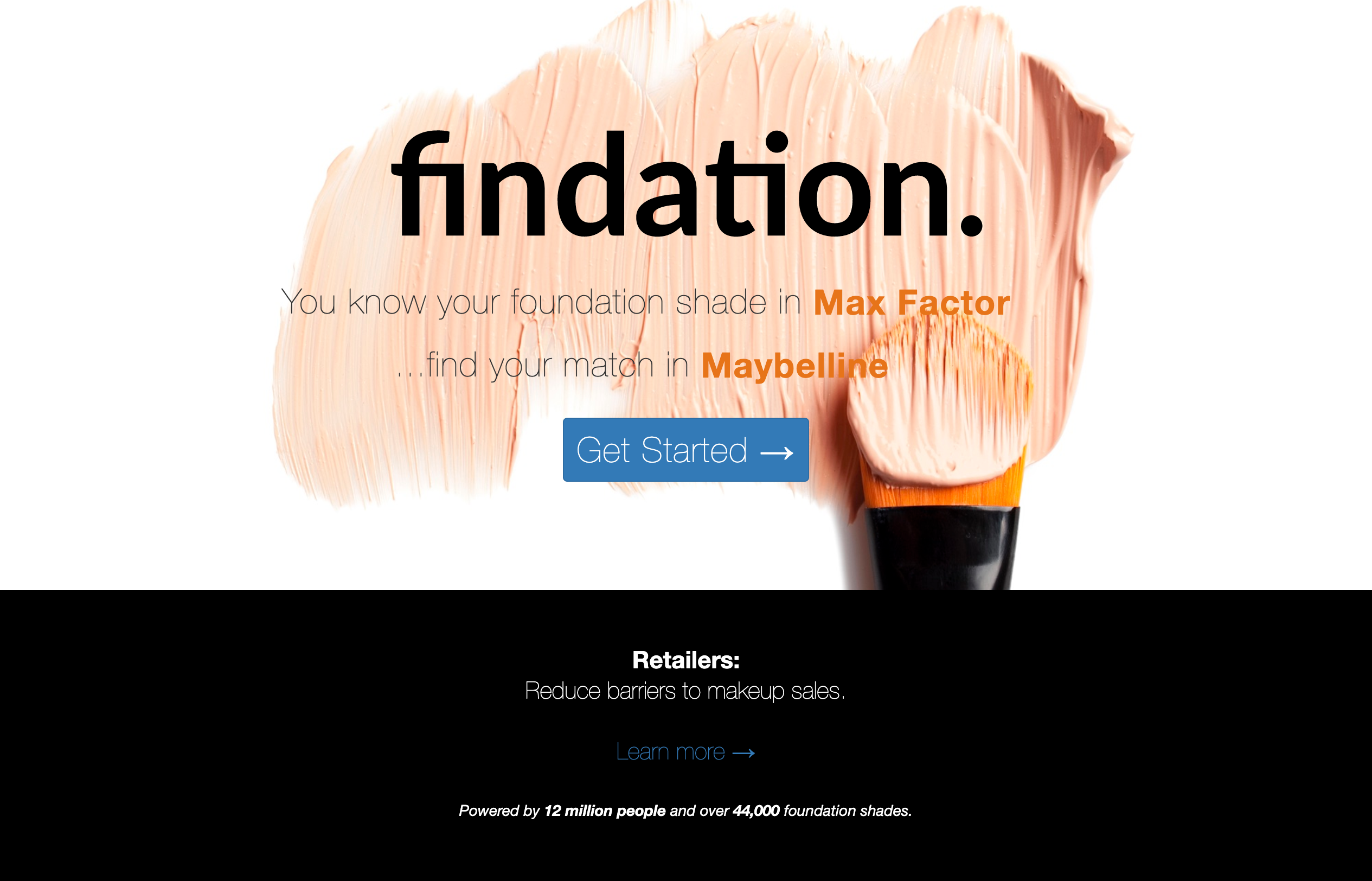 Findation helps you find your foundation match across