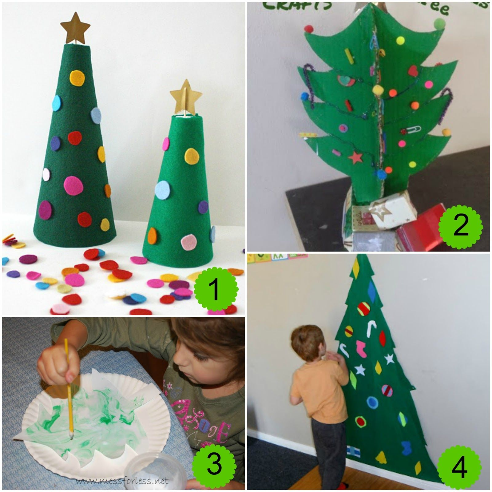 Christmas Tree Craft Ideas For Preschoolers Part - 25: 10 Christmas Tree Activities And The Weekly Kids Co-Op