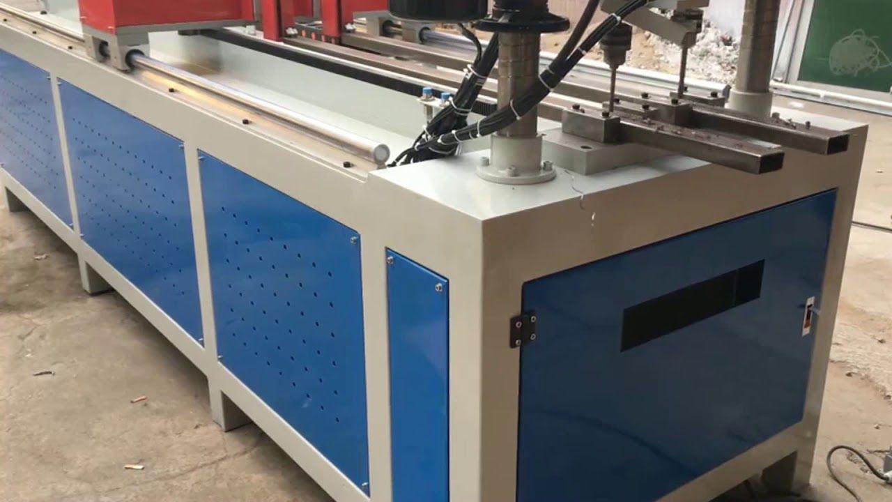 🅰CNC Automatic Drilling Machine Auto Feeding Square pipe alloy ...