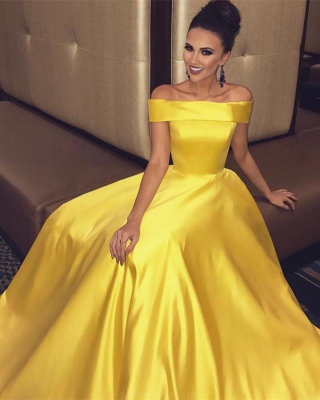 2018 Prom Dresses 2018promdresses Ball Gown Prom Dresses Ballgownpromdresses Prom Dresses Yellow Yellow Evening Dresses Prom Dresses