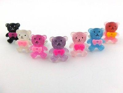 2x Bärchen Ohrclips Kawaii niedlich Kinder Ohrschmuck Bär Bear süß   eBay