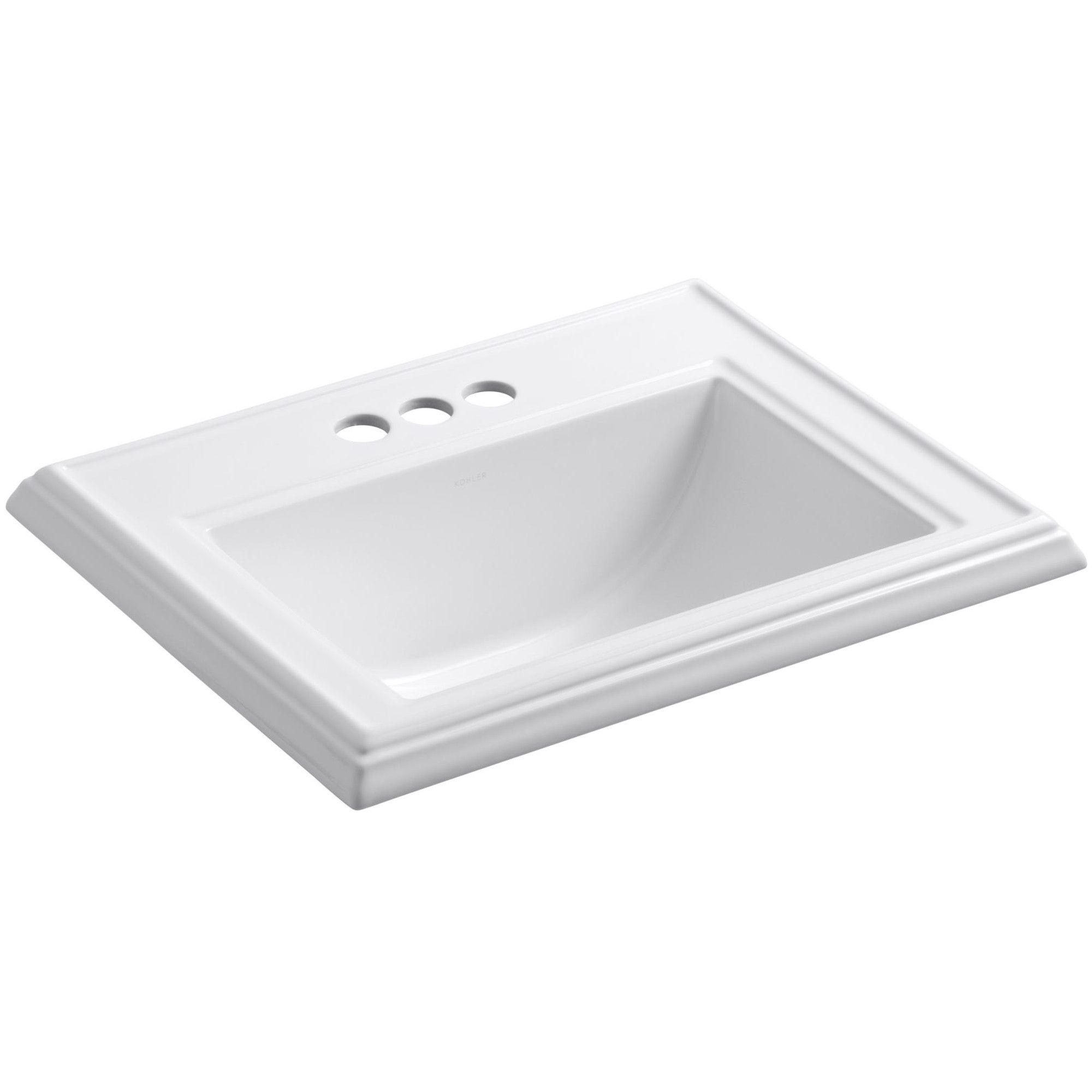 Kohler K 2241 4 Memoirs 17 Drop In Bathroom Sink With 3 Holes
