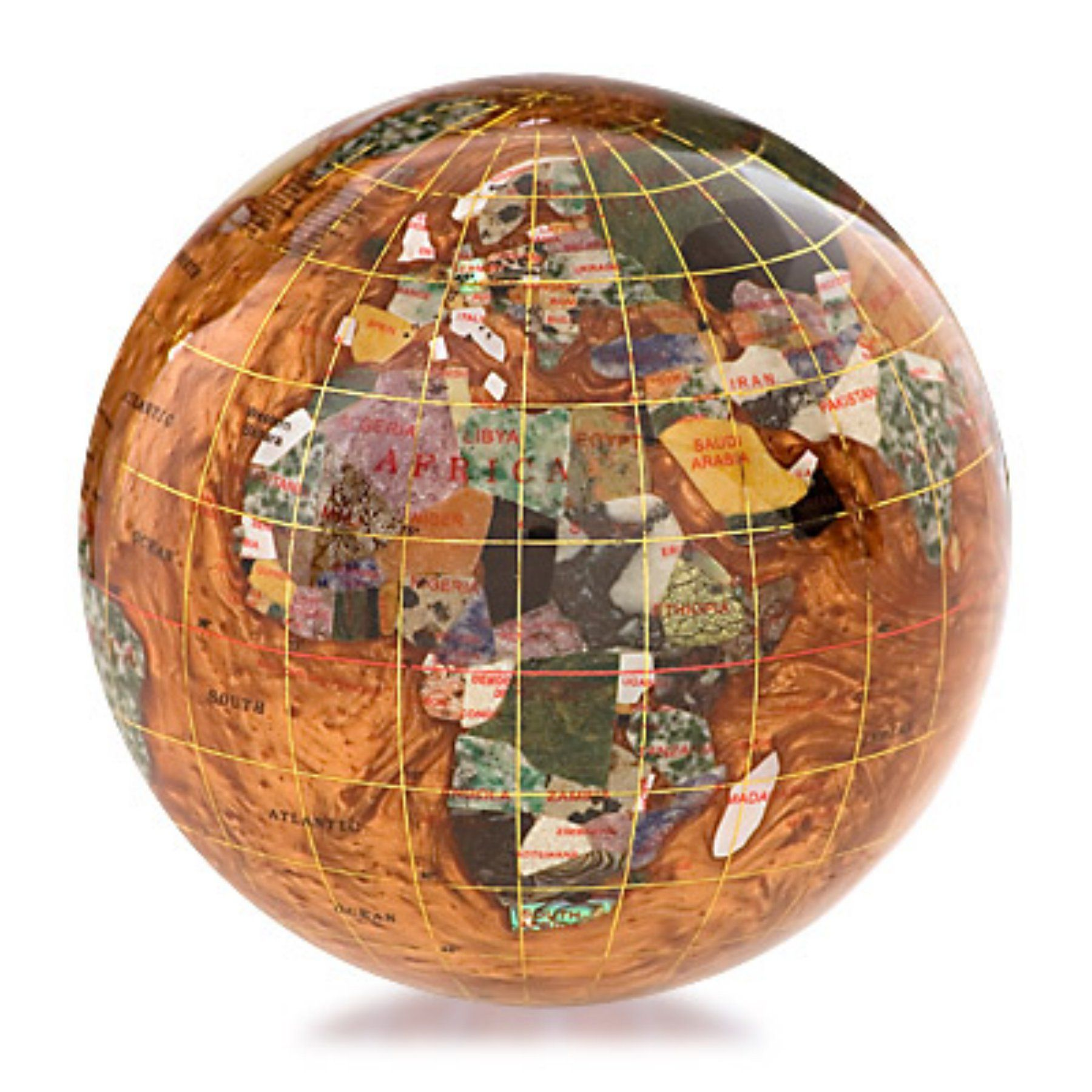 Kalifano copper amber 4 in gemstone globe paperweight gpw110g cpr gemstone globe paperweight gpw110g cpr gumiabroncs Image collections