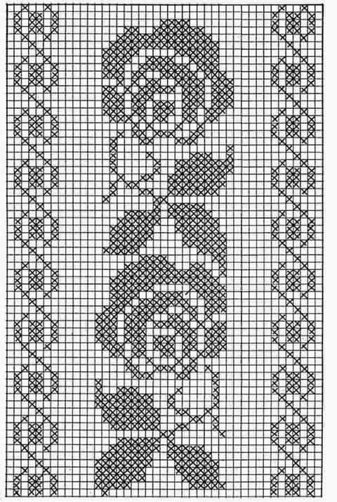 Pin de NINFA MEDINA en NOMS FILET CROCHET | Pinterest | Ganchillo ...