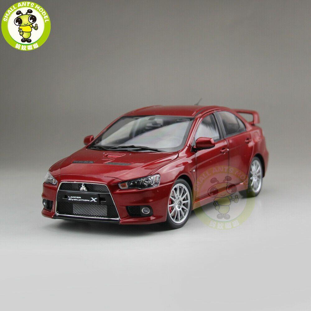 1//18 1:18 Scale Mitsubishi Lancer Evolution X LHD White Diecast Model Car